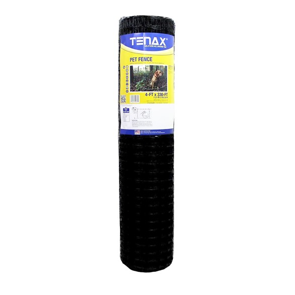 Tenax Pet Fence Select 4' x 100' Black 2A140073 (330' Roll Shown As Example)