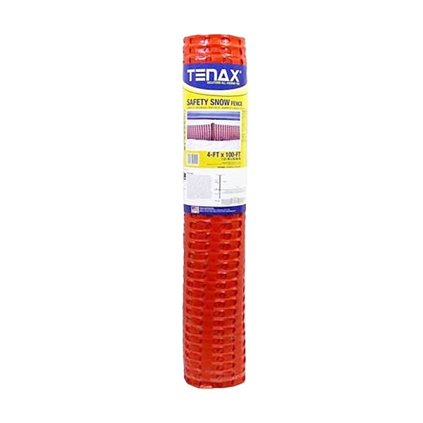 Tenax Safety Snow Fence 4' X 100' Orange 90600104