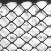 Tenax Poultry Fence 4' x 50' Black 72120346 (Grid Shown For Scale)