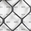 Tenax Sentry HD Heavy Duty Safety Fence 4' X 50' Black 64315809 (Grid Shown For Scale)