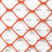 Tenax Sentry LW Safety Fence 4' X 100' Fluorescent 2A170098 (Orange Shown As Example) - Grid Shown For Scale