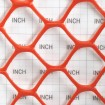Tenax Sentry Secura Safety Fence 5' X 50' Orange 64015204 (Grid Shown For Scale)